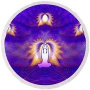 Round Beach Towel featuring the digital art Cosmic Spiral Ascension 31 by Derek Gedney