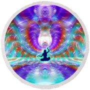 Round Beach Towel featuring the digital art Cosmic Spiral Ascension 71 by Derek Gedney