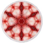 Cosmic Spiral Kaleidoscope 22 Round Beach Towel by Derek Gedney
