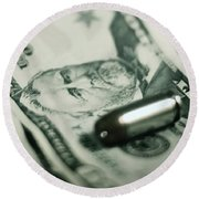 Cost Of One Bullet Round Beach Towel