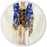 Costume Design For A Dancing Girl Round Beach Towel