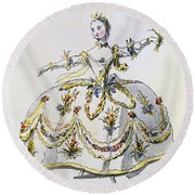 Costume Design For Ceres, Facsimile Round Beach Towel