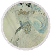 Costume Design For Salome In Dance Of The Seven Veils, 1909 Wc Round Beach Towel