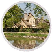Cottage In The Hameau De La Reine Round Beach Towel