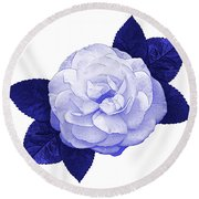Round Beach Towel featuring the photograph Cottage Rose by Jane McIlroy