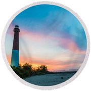 Cotton Candy Day Round Beach Towel