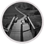 Coulee Stairs Round Beach Towel