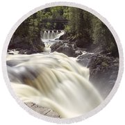 Coulonge Falls Round Beach Towel by Eunice Gibb