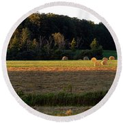 Country Bales  Round Beach Towel