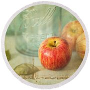 Country Comfort Round Beach Towel by Amy Weiss