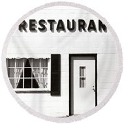 Country Restaurant Round Beach Towel