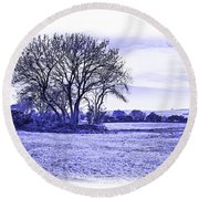 Round Beach Towel featuring the photograph Country Scene by Jane McIlroy