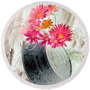 Country Summer - Photopower 1499 Round Beach Towel by Pamela Critchlow