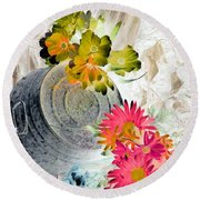 Country Summer - Photopower 1509 Round Beach Towel by Pamela Critchlow