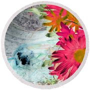 Country Summer - Photopower 1510 Round Beach Towel by Pamela Critchlow