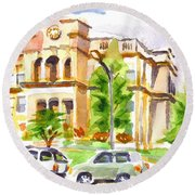 County Courthouse II Round Beach Towel