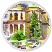County Courthouse Round Beach Towel