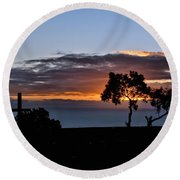 Round Beach Towel featuring the photograph Couple by Michael Gordon