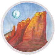 Court House Butte  Round Beach Towel
