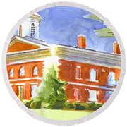 Courthouse Bright Round Beach Towel