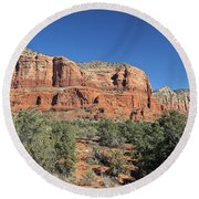 Courthouse Butte Round Beach Towel by Penny Meyers