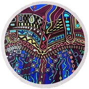 Couture Round Beach Towel by Barbara St Jean