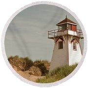 Covehead Lighthouse 3 Round Beach Towel