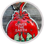 Cover The Earth Round Beach Towel