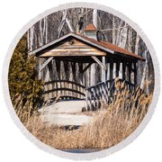 Covered Bridge Round Beach Towel by Patrick Shupert