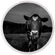 Cow Round Beach Towel by Bob Orsillo