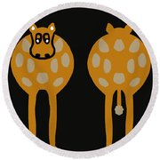 Cow - Both Ends Round Beach Towel