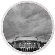 Cowboy Stadium Bw Round Beach Towel