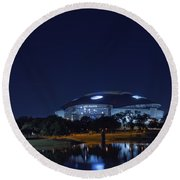 Cowboys Stadium Game Night 1 Round Beach Towel