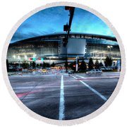 Cowboys Stadium Pregame Round Beach Towel