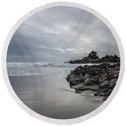 Cox Bay Afternoon  Round Beach Towel