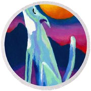 Coyote Azul Round Beach Towel by Stephen Anderson