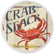 Crab Shack Round Beach Towel