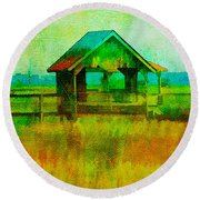 Crab Shack Pawleys Island Round Beach Towel