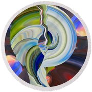 Crack Of Dawn Round Beach Towel by rd Erickson