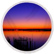 Crack Of Dawn Round Beach Towel
