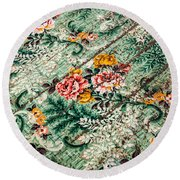 Cracked Linoleum Round Beach Towel