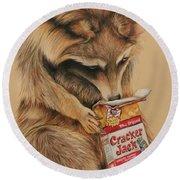 Cracker Jack Bandit Round Beach Towel