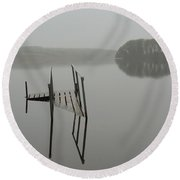 Crannog At Lake Knockalough Round Beach Towel
