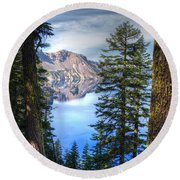 Crater Lake 1 Round Beach Towel