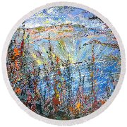 Crater Lake - 1997 Round Beach Towel