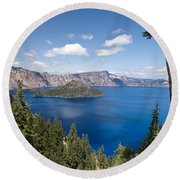 Crater Lake National Park Round Beach Towel by Diane Schuster