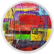 Crazy Abstract Round Beach Towel