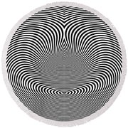 Crazy Circles Round Beach Towel