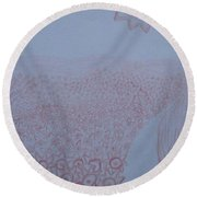 Crazy Quilt Star Gown Round Beach Towel