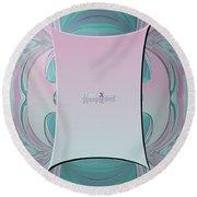 Cream Mint Mediterran Round Beach Towel